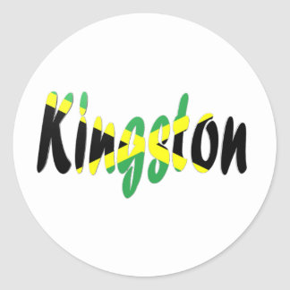Kingston, Jamaica Pegatina Redonda