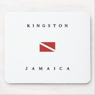 Kingston Jamaica Scuba Dive Flag Mouse Pad