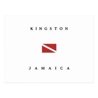 Kingston Jamaica Scuba Dive Flag Postcard