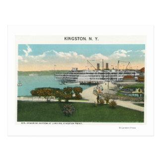 Kingston Point View of Hendrick Hudson Steamer Postcard