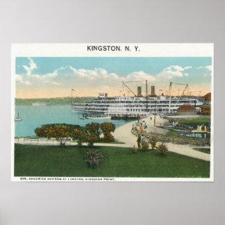 Kingston Point View of Hendrick Hudson Steamer Poster