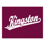 Kingston script logo in White Full Color Flyer