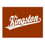 Kingston script logo in White Postcard