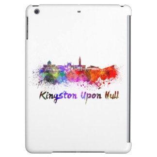Kingston Upon Hull skyline in watercolor Cover For iPad Air
