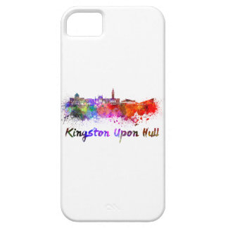 Kingston Upon Hull skyline in watercolor iPhone SE/5/5s Case