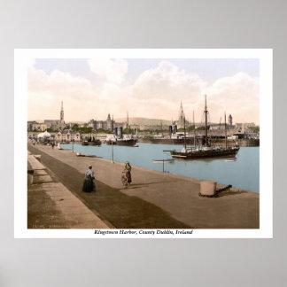 Kingstown - DunLaoghaire Harbor, Co. Dublin Poster
