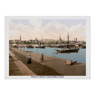 Kingstown - puerto de DunLaoghaire, Co. Dublín Poster