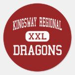 Kingsway Regional - Dragons - High - Swedesboro Round Stickers