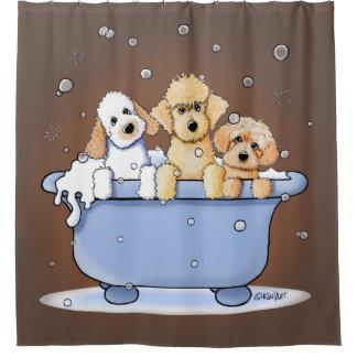 KiniArt Bath Doods Shower Curtain