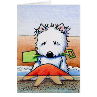 KiniArt Beach Westie Card