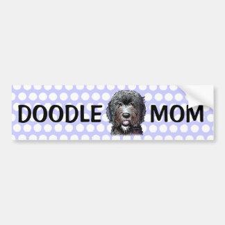 KiniArt Black Doodle Bumper Sticker