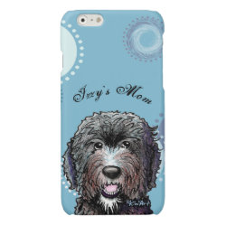 Case Savvy iPhone 6 Glossy Finish Case with Labradoodle Phone Cases design