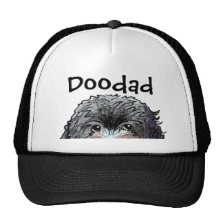 KiniArt Black Doodle Hats