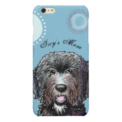 Case Savvy iPhone 6 Plus Glossy Finish Case with Labradoodle Phone Cases design