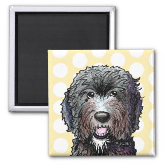 KiniArt Black Doodle Refrigerator Magnets