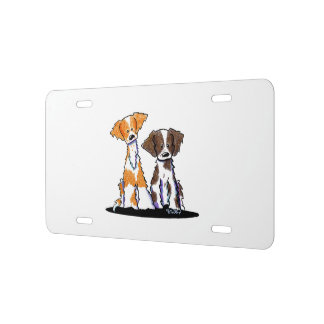 KiniArt Brittany Duo Liver License Plate