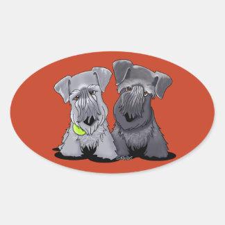 KiniArt Cesky Terriers Oval Sticker