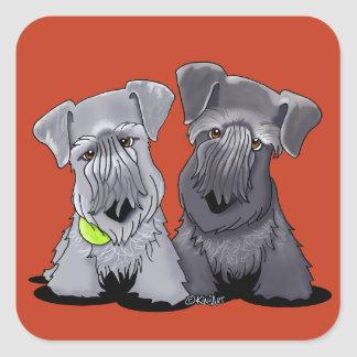 KiniArt Cesky Terriers Square Sticker