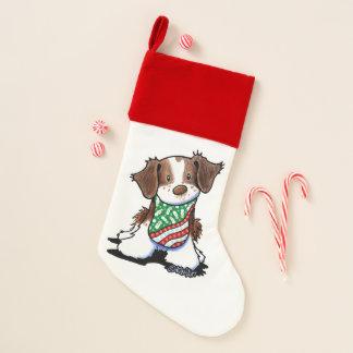 KiniArt Christmas Brittany Stocking