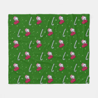 KiniArt Christmas Westie Terrier Fleece Blanket