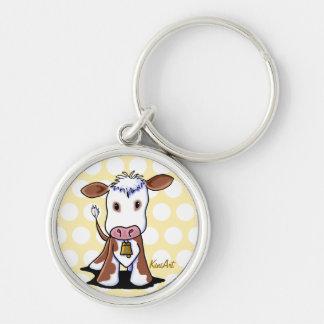KiniArt Cow Keychain