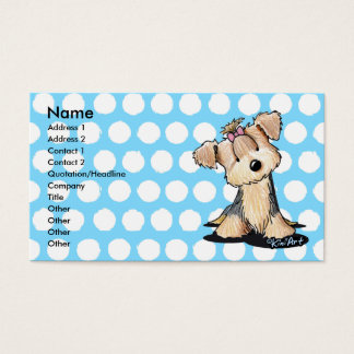 KiniArt Darlin May Yorkie Business Card