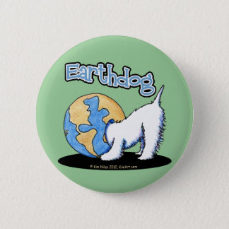 KiniArt Earthdog Westie Pinback Button