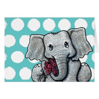 KiniArt Elephant Stationery Note Card