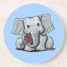 KiniArt Elephant Coaster