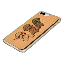 Carved Apple iPhone 7 Plus Wood Case with Labradoodle Phone Cases design