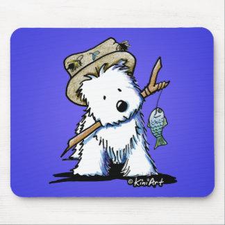 KiniArt Fishing Westie Mousepad