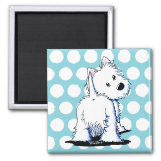 KiniArt Fluffy Butt Westie Dog Magnet