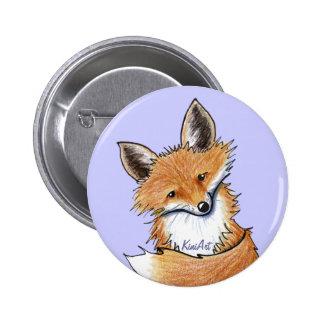 KiniArt Fox 2 Inch Round Button
