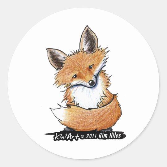 KiniArt Fox Classic Round Sticker