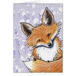 KiniArt Fox Note Card