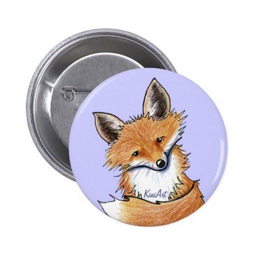 KiniArt Fox Pinback Buttons