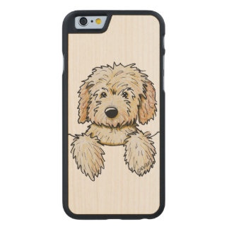 KiniArt Goldendoodle Puppy Carved Maple iPhone 6 Case