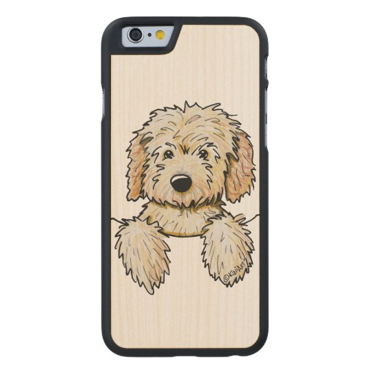 9318dc4b KiniArt Goldendoodle Puppy Carved Wood iPhone Case | Zazzle.com