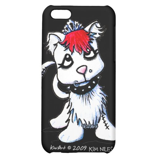 KiniArt Goth Kitten Case For iPhone 5C