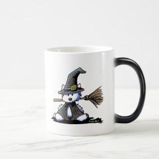 KiniArt Halloween Westie Witch Magic Mug