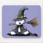KiniArt Halloween Westie Witch Mouse Pad