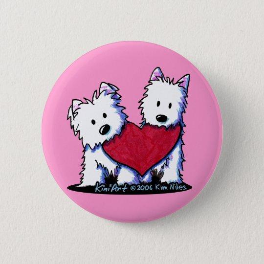 KiniArt Heartfelt Westies Button