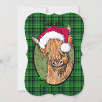 KiniArt Highland Cow Christmas Holiday Card