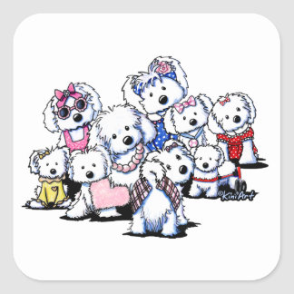 KiniArt International Women's Day Dogs Square Sticker
