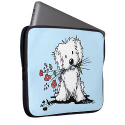 Neoprene Laptop Sleeve 15' with Maltese Phone Cases design