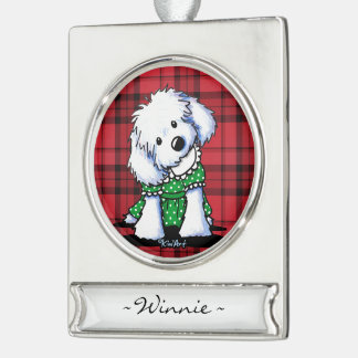 KiniArt Maltese Personalized Ornament
