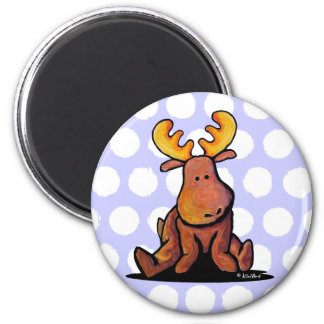 KiniArt Moose 2 Inch Round Magnet