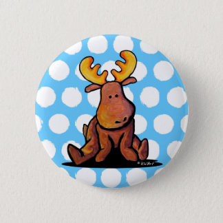 KiniArt Moose Pinback Button