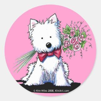 KiniArt Mr. Pawfect Westie Stickers
