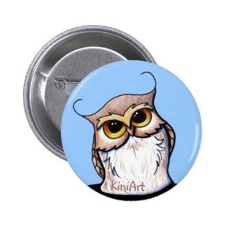 KiniArt OWL 2 Inch Round Button